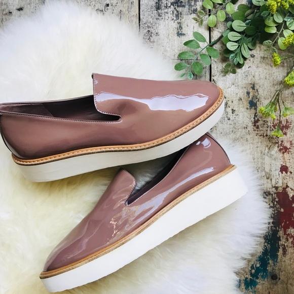 VINCE blush platform loafers Sz 7.5 women's NEW